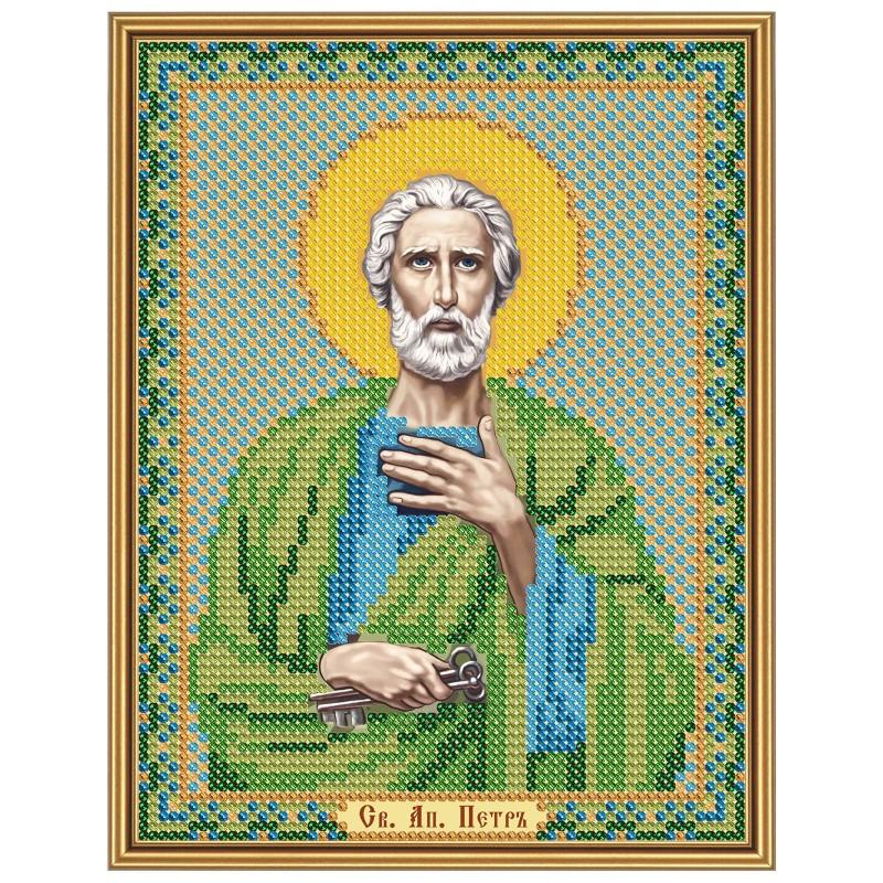 """Nova Sloboda - Тканина зi схемою для вишивки ікони бiсером """"Христос Спаситель"""" / фото №3214"""