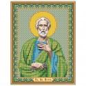 """Тканина зi схемою для вишивки ікони бiсером """"Св. Ап. Петро"""""""