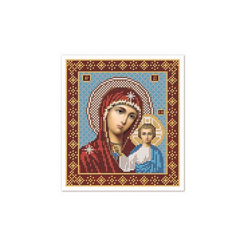 """Nova Sloboda - Тканина зi схемою для вишивки ікони бiсером """"Христос Спаситель"""" / фото №3233"""