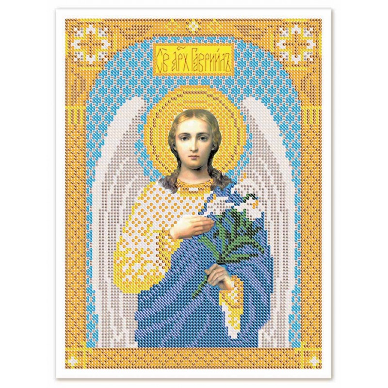 """Nova Sloboda - Тканина зi схемою для вишивки ікони бiсером """"Христос Спаситель"""" / фото №3235"""