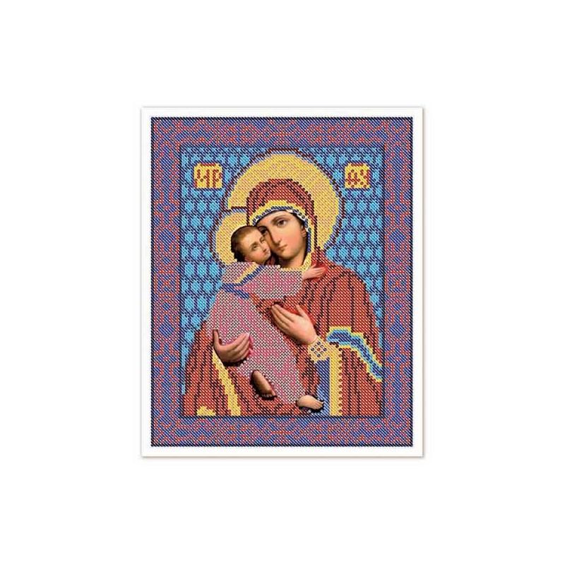 """Nova Sloboda - Тканина зi схемою для вишивки ікони бiсером """"Христос Спаситель"""" / фото №3241"""