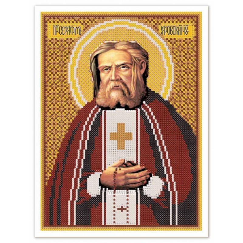 """Nova Sloboda - Тканина зi схемою для вишивки ікони бiсером """"Христос Спаситель"""" / фото №3246"""