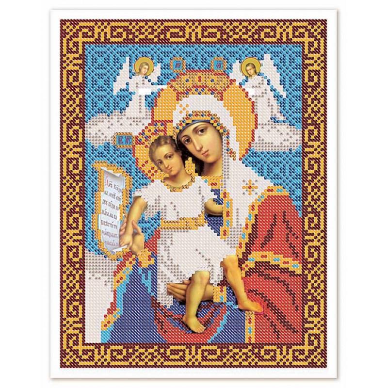 """Nova Sloboda - Тканина зi схемою для вишивки ікони бiсером """"Христос Спаситель"""" / фото №3248"""