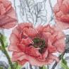 """Набор для вишивки нитками на канві з фоновим зображенням """"Рожева сюїта"""""""