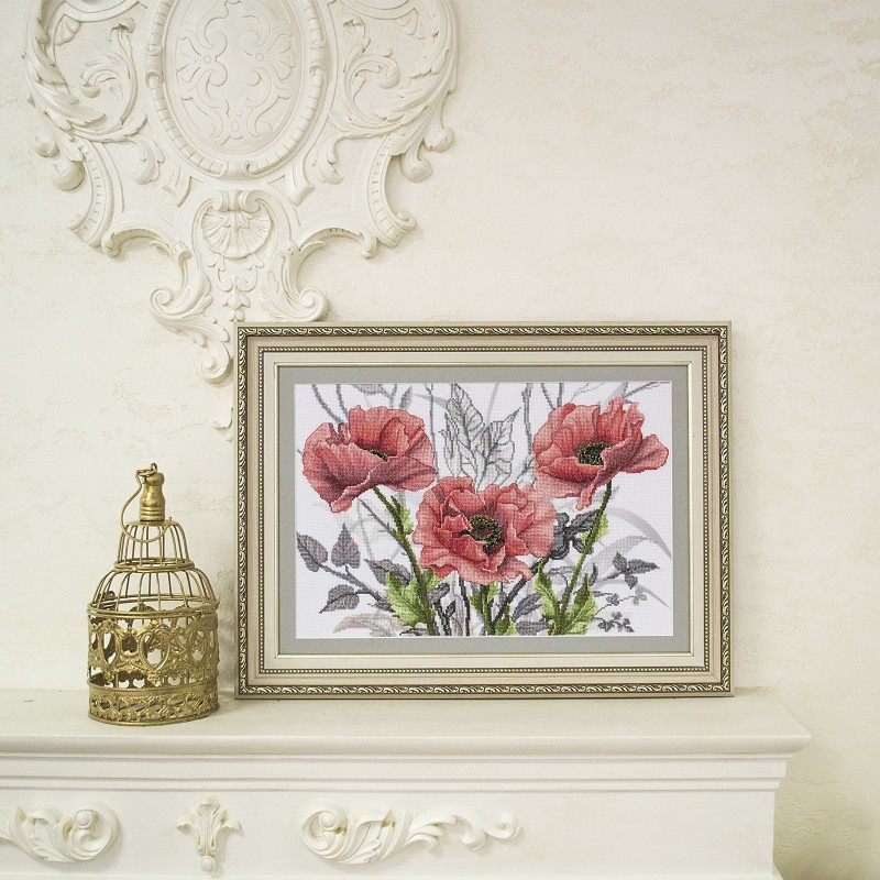 "Nova Sloboda - Набор для вишивки нитками на канві з фоновим зображенням ""Рожева сюїта"" / фото №3279"