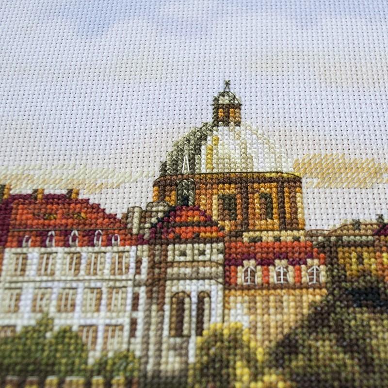 """Nova Sloboda - Набір для вишивки нитками на канві з фоновим зображенням """"Прага. Карлов міст"""" / фото №3292"""