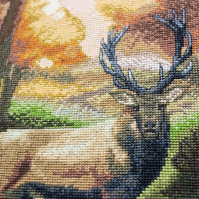 """Nova Sloboda - Набір для вишивки нитками на канві з фоновим зображенням """"Хранитель лісу"""" / фото №331"""