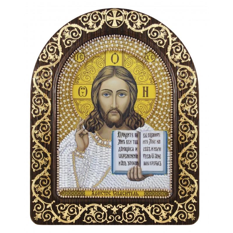 """Nova Sloboda - набір для вишивки ікони в рамці-кіоті """"Христос Спаситель"""" / фото №3369"""