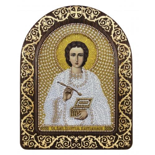 """Набір для вишивки ікони в рамці-кіоті """"Св. Вмч. Цілитель Пантелеймон"""""""