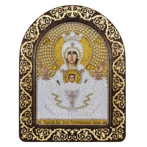 """Набор для вышивки икон в рамке-киоте """"Образ Прсв. Богородицы """"Неупиваемая чаша"""""""