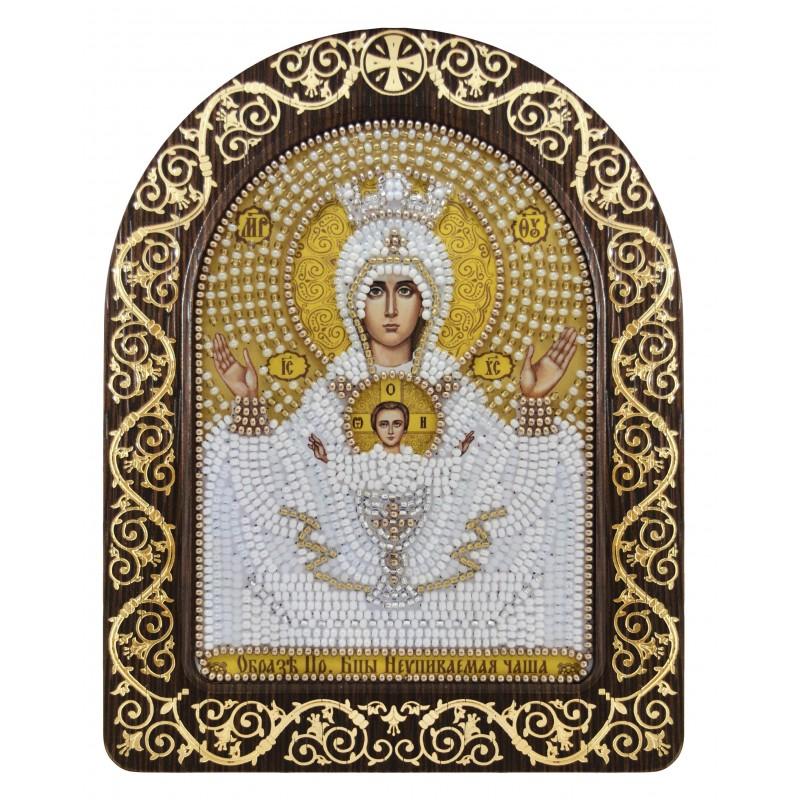 """набір для вишивки ікони в рамці-кіоті """"Ікона Прсв. Богородиці «Ікона Прсв. Богородиці «Невичерпна Чаша»"""