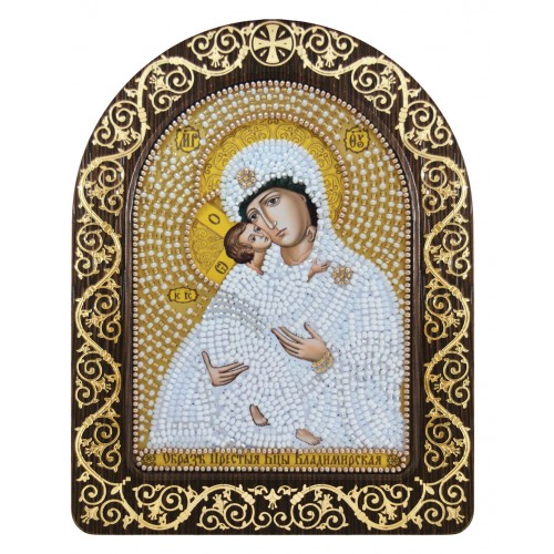 """Набор для вышивки иконы в рамке-киоте """"Богородица Владимирская"""""""