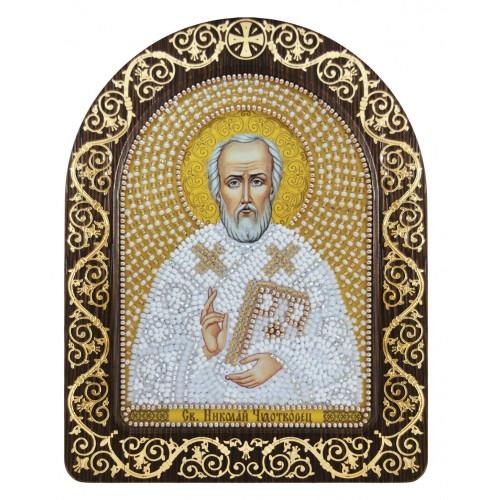 """Набір для вишивки ікони в рамці-кіоті """"Св. Миколай Чудотворець"""""""