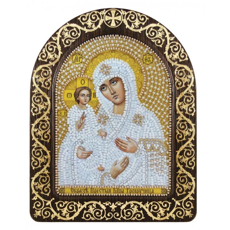 """Nova Sloboda - набір для вишивки ікони в рамці-кіоті """"Ікона Прсв. Богородиці «Богородиця «Троєручиця» / фото №3404"""