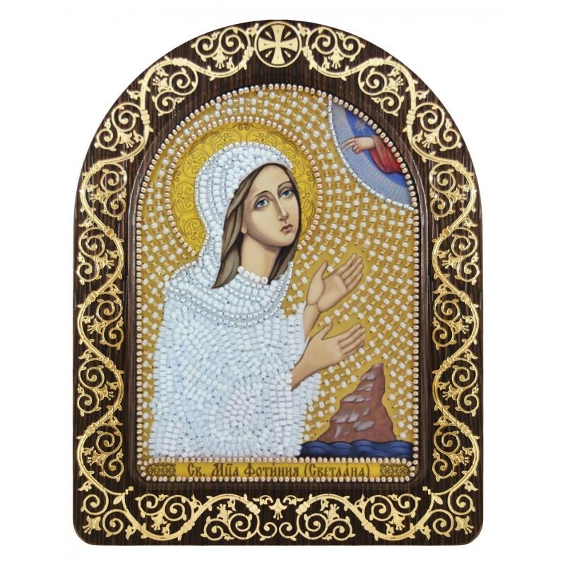 """Nova Sloboda - набір для вишивки ікони в рамці-кіоті """"Св. Мц. Фотинія Самарянка (Світлана)"""" / фото №3433"""