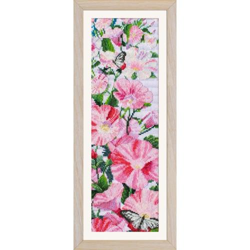 """Набор для вишивки нитками на канві з фоновим зображенням """"Іпомея рожева"""""""