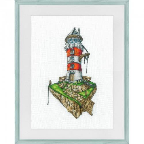 """Набор для вышивки нитками на белой канве """"Старая башня"""""""