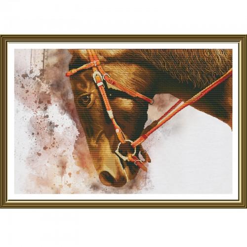 """Набір для вишивки нитками на канві з фоновим зображенням """"Екліпс"""""""