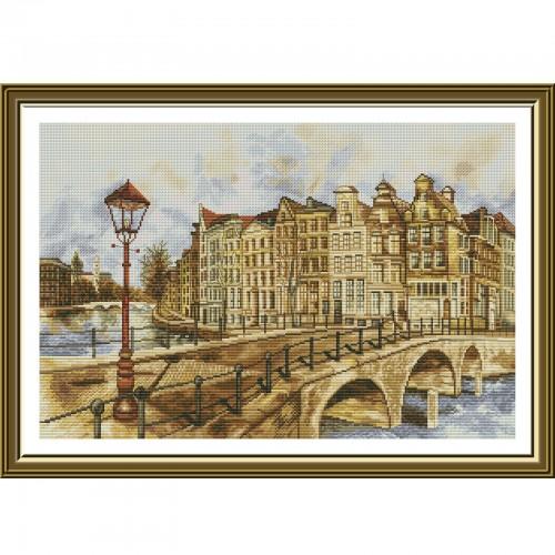"""Набор для вышивки нитками на белой канве """"Амстердам"""""""