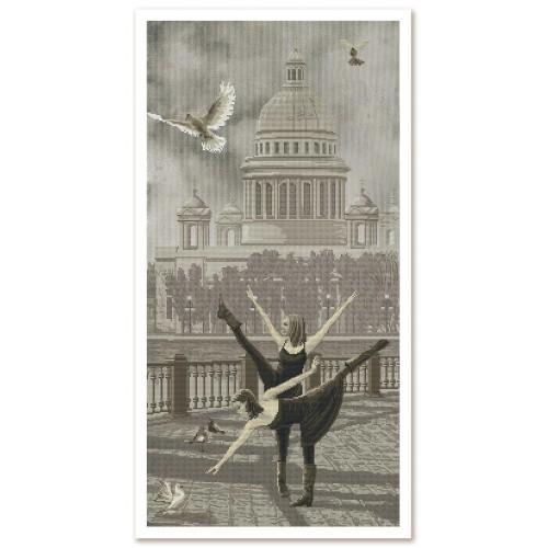 """Набір для вишивки нитками на канві з фоновим зображенням """"Санкт-Петербург. Ісаакіївський собір"""""""