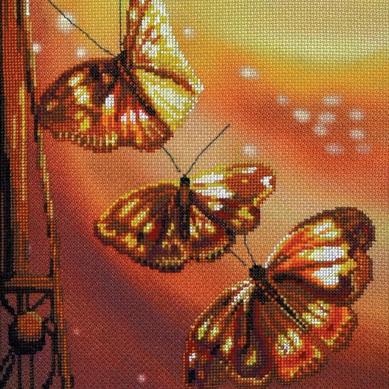 """Nova Sloboda - Набір для вишивки нитками на канві з фоновим зображенням """"Романтика"""" / фото №366"""