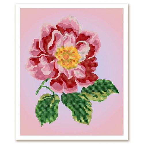 """Тканина зi схемою для вишивки бiсером """"Квітка шипшини"""""""