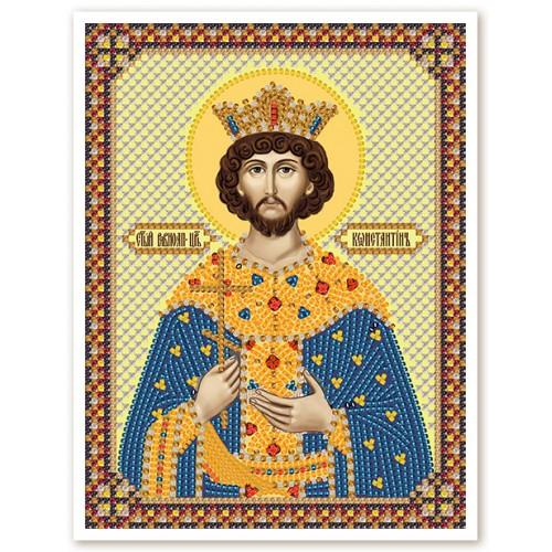 """Ткань со схемой для вышивки иконы бисером """" Св. Равноап. Царь Константин"""""""