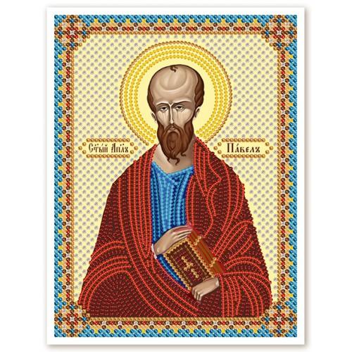 """Ткань со схемой для вышивки иконы бисером """" Св. Ап. Павел"""""""