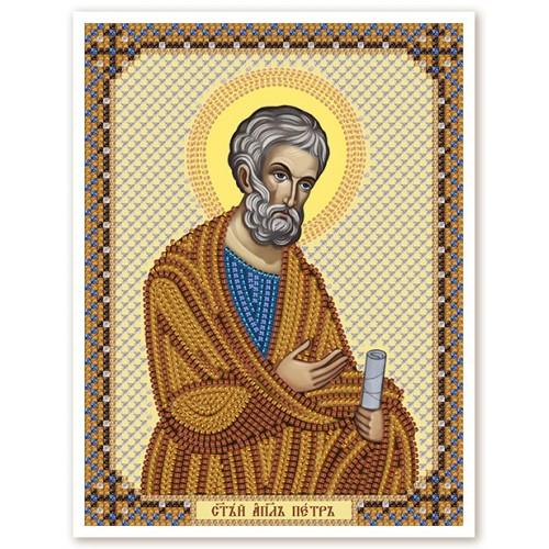"""Ткань со схемой для вышивки иконы бисером """"Св. Ап. Петр"""""""