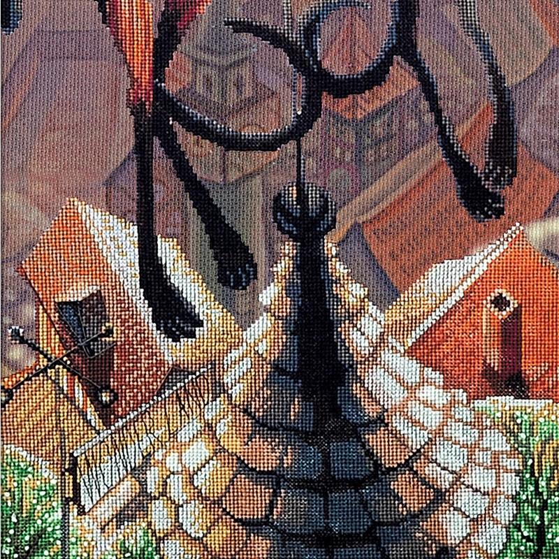 """Nova Sloboda - Набір для вишивки нитками на канві з фоновим зображенням """"Я подарую тобі..."""" / фото №373"""