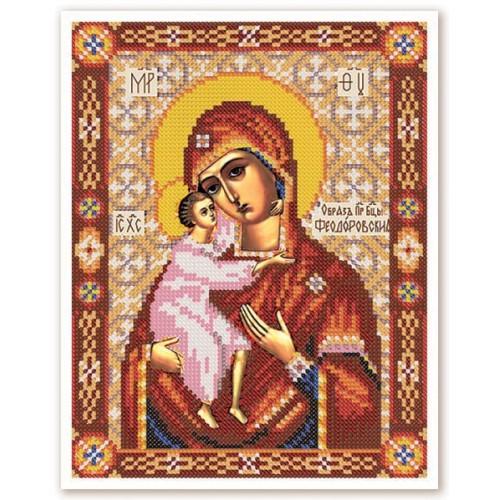 """Набор для вышивки иконы бисером """"Богородица Феодоровская"""""""