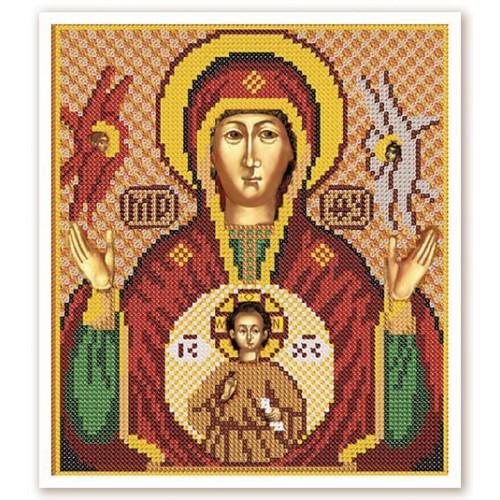 """Набор для вышивки иконы бисером """"Богородица """"Знамение"""""""