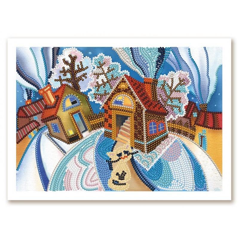 """Nova Sloboda - Набор для вышивки бисером """"Зимняя сказка"""" / фото №3769"""
