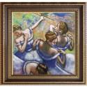 """Набір для вишивки нитками на канві з фоновим зображенням """"Блактині танцівниці"""""""