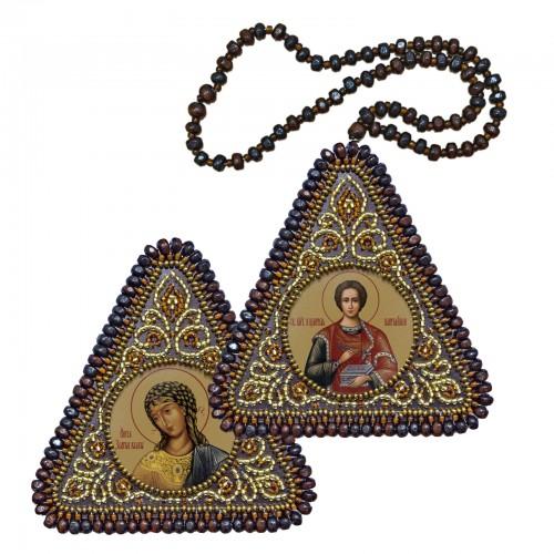 """Набор для вышивания двухсторонней иконы """"Св.Вмч.Целитель Пантелеимон и Ангел Златые Власы"""""""