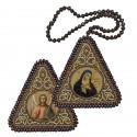 """Набір для вишивання двусторонньої ікони """"Богородиця """"Пом'якшення злих сердець"""" та Ангел Хранитель"""""""