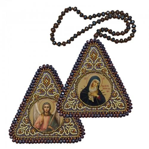 """Набор для вышивания двухсторонней иконы """"Богородица """"Умягчение злых сердец"""" и Ангел Хранитель"""""""
