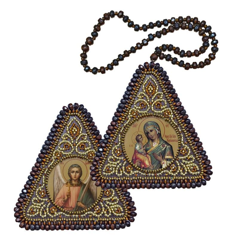 """Набір для вишивання двусторонньої ікони """"Богородиця Єрусалимська"""" та Ангел Хранитель"""""""