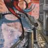 """Набір для вишивки нитками на канві з фоновим зображенням """"Місяць на змичку"""""""
