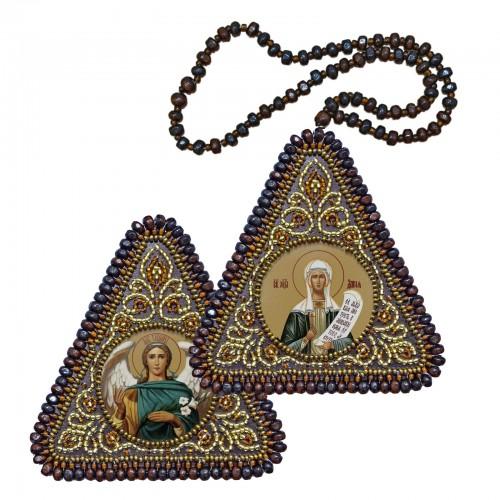 """Набір для вишивання двусторонньої ікони """"Св. Мц. Дария (Дар'я) та Архангел Гавриїл"""""""