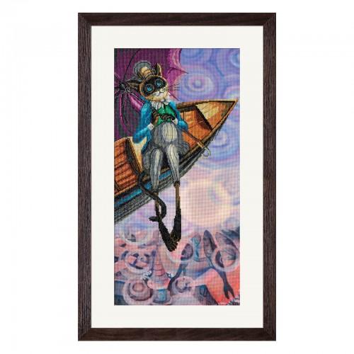 """Набор для вышивки нитками на канве с фоновым изображением """"В поисках радуги"""""""