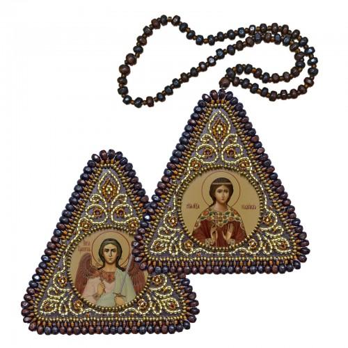 """Набір для вишивання двусторонньої ікони """"Св. Мц Надія та Ангел Хранитель"""""""