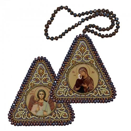 """Набір для вишивання двусторонньої ікони """"Прав. Анна, мати Пресвятої Богородиці та Ангел Хранитель"""""""