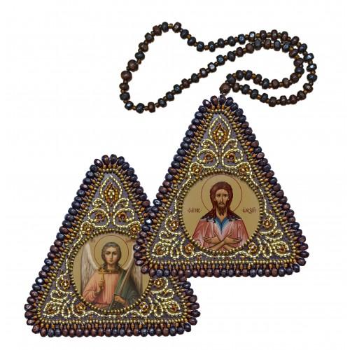 """Набір для вишивання двусторонньої ікони """"Св. Прп. Олексій Чоловік Божий та Ангел Хранитель"""""""
