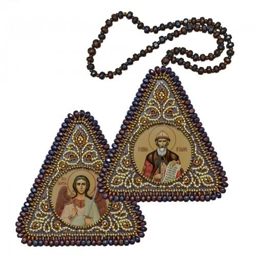 """Набір для вишивання двусторонньої ікони """"Св. Равноап. Князь Володимир та Ангел Хранитель"""""""