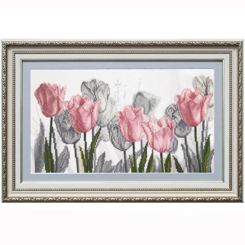 """Набір для вишивки нитками на канві з фоновим зображенням """"Квіткова соната"""""""