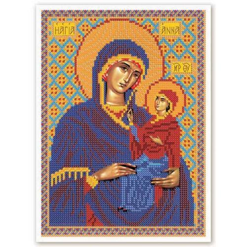 """Набор для вышивки иконы бисером """"Св. Анна с Младенцем Марией"""""""