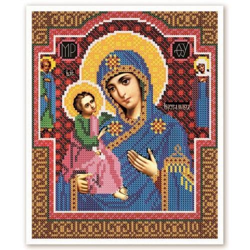 """Набор для вышивки иконы бисером """"Богородица Иерусалимская"""""""