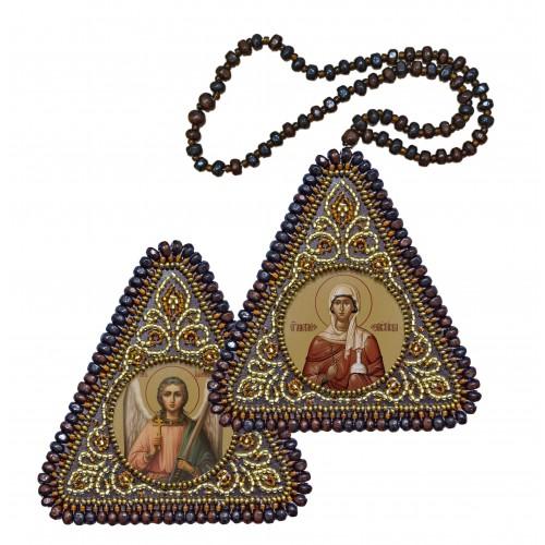 """Набор для вышивания двухсторонней иконы """"Св. Вмц. Анастасия Узорешительница и Ангел Хранитель"""""""