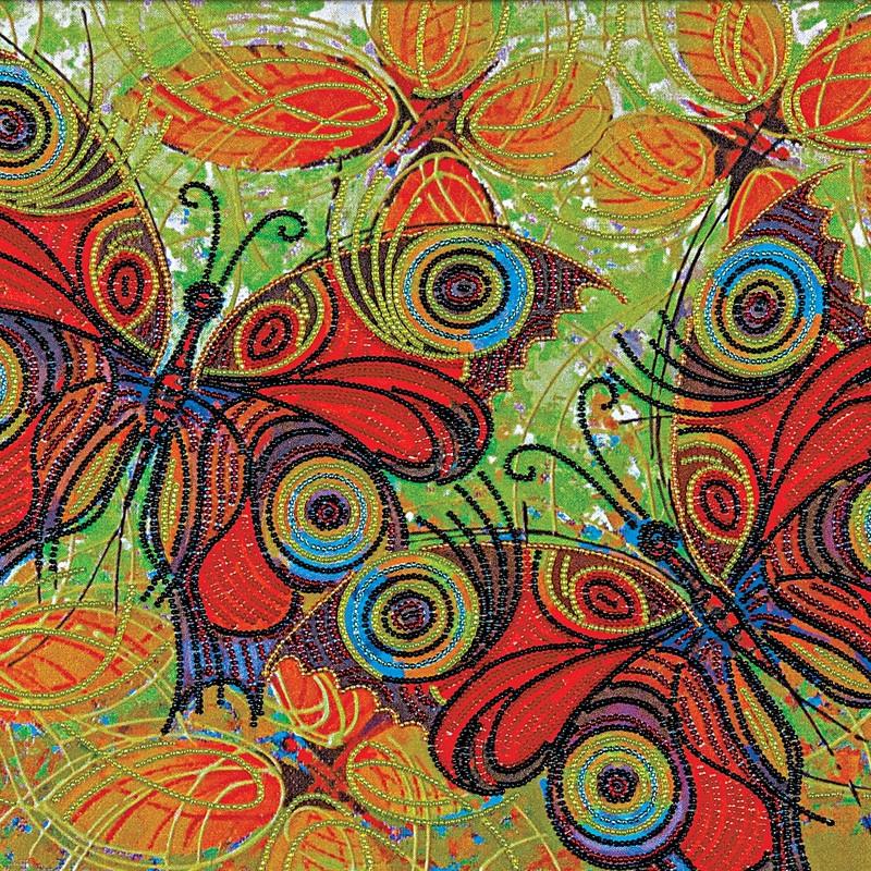 """Nova Sloboda - Набір для вишивки бісером """"Метелики"""" / фото №411"""